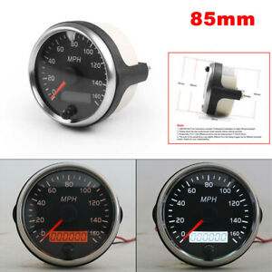 85mm 12V / 24V Digital LCD Speedometer Waterproof 0-160MPH/H Car Truck RV Marine