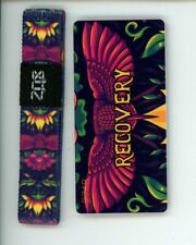 Medium ZOX Silver Singles Strap RECOVERY Wristband with Card Reversible