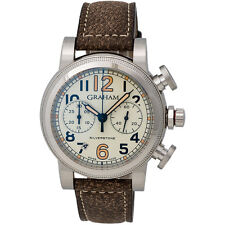 GRAHAM SILVERSTONE VINTAGE 44 CHRONOGRAPH DATE AUTOMATIC MEN'S WATCH $7,600