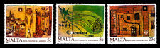 Malta - Scott 700-702 1987 European Environment Year - Mnh