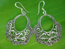 925 sterling silver SWISS MARCASITE Fancy Dangling Women Bridal Earrings