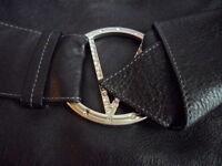 VINTAGE GENUINE BLACK LEATHER VALENTINO HANDBAG SHOULDER BAG MADE IN ITALY