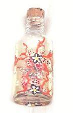 Vintage glass painted dressing table bottle 1980's-Vintage bottle 1980's