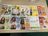 10 Nintendo Wii Games Lot - Workout/Fitness Wholesale Lot