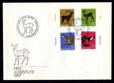 Schweiz 866/9 FDC Einheimische Tiere u.a. Alpensteinbock