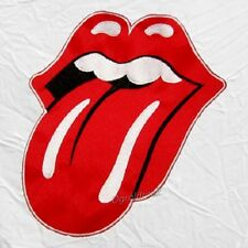 The Rolling Stones Tongue Logo Embroidered Big Patch Mick Jagger Keith Richards