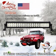 24inch Led Light Bar 120W Work Lamp Off road Driving Fog Truck Jeep SUV ATV 20