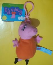 Peluche Mamma Pig Portachiavi 15 cm, serie Peppa Pig, originale con etichette