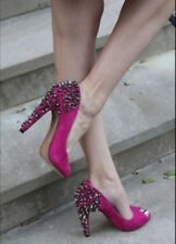 Sam Edelman Lorissa Pink Studded Peep Toe Heels size 7.5
