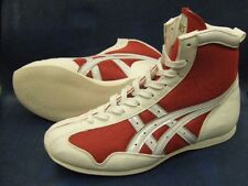 asics Boxing Shoes Short type Original color Red x white