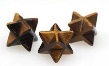 TIGER EYE MERKABA Star Carving Mineral Gemstone Crystal Healing Sacred Geometry