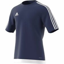 Mens Adidas Estro 15 Climalite Short Sleeve T Shirt Top Football Size S M L XL
