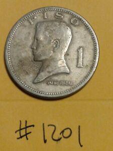 Philippines 1 Piso 1972 Jose Rizal  Republika Ng Pilipinas Coin