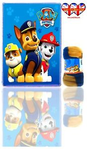 Paw Patrol Blanket Soft Touch Polar Fleece Blanket ,Official Licenced