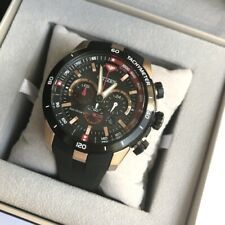 Citizen Eco-Drive Watch * CA4158-06E Special Ed Rose Gold & Black Rubber Watch