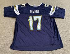 Reebok Phillip Rivers San Diego Los Angeles Chargers Bolt Logo Women's XL Jersey