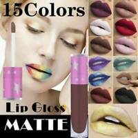 15 Color Waterproof Long Lasting Velvet Matte Lipstick Makeup Liquid Lip Gloss~