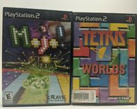 2 game bundle, Tetris Worlds & Mojo! PlayStation 2 PS2. Ships Fast.
