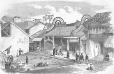 CHINA. Opium Wars. Cum-fa-Mew landing Place, Honan, antique print, 1858
