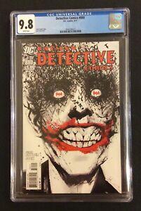 DETECTIVE COMICS #880 Comic Book CGC 9.8 JOKER Cover JOCK Art HARD TO FIND! 2011