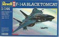KIT REVELL 1:144 AEREO DA MONTARE F-14A BLACK TOMCAT  LUNGHEZZA 13,4 CM   04029