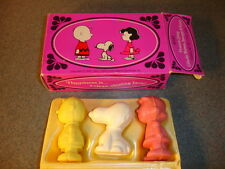 1970 Old Vtg Antique Avon Peanuts Gang Charlie Brown, Snoopy, & Lucy With Box