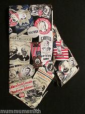 Men's Tie Republican Candidate Ads 100% Silk Neckties GOP Presidents