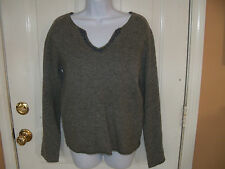 Abercrombie & Fitch Gray V Sweater Size Large Women's EUC