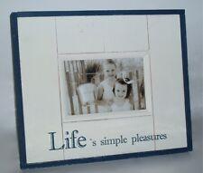 Life's Pleasures Photo Frame with Rustic/Rough Coastal Beach House Look Wood