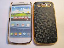 Black & Gold Honey Comb Designer Plastic Samsung Galaxy S3 SIII i9300 Case