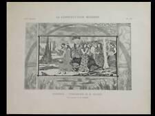 EUGENE GRASSET, HARMONIE - PLANCHE 1896 - FELIX GAUDIN, ART NOUVEAU