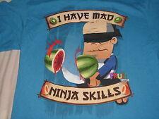 """authentic FRUIT NINJA """"I HAVE MAD NINJA SKILLS"""" T-SHIRT ADULT M medium AWESOME"""