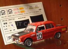 DECAL CALCA 1/43 SEAT 124  S. CAÑELLAS RALLY RACE 1972 (1º / 1st SEAT VICTORY)