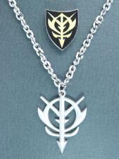 GUNDAM ZEON Army Silver Necklace Pin Set