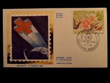 MONACO PREMIER JOUR FDC YVERT  1247      LA CROIX ROUGE      6F    1980
