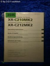 Sony Bedienungsanleitung XR C210MK2 /C212MK2 Car Stereo (#3546)