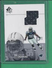 2002 SP Authentic Game Used De JULIUS PEPPERS no.AT1-JP panthers