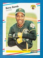 Barry Bonds #322 (1988 Fleer) Baseball Card, Pittsburgh Pirates