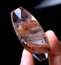Rare Natural Phantom Rabbit Hair Rutilated Quartz Crystal Pendant 170.15ct