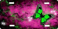 Personalized Custom License Plate Auto Car Tag Green Butterfly