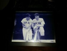 Ted Williams & Joe Dimaggio Photo 8x10 Framed