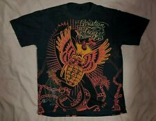 Men's (3XL) Ed Hardy Christian Audigier Los Angeles Black Red Gold Graphic Shirt