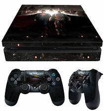 PS4 Slim Aderente BATMAN VS SUPERMAN HEROES + JOYSTICK decalcomanie VINILE NUOVO