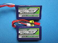 2 NANO-TECH 460mAh 3S 11.1V 25-40C LIPO BATTERY JST QUAD HELI FOAMIES FPV 12V RC
