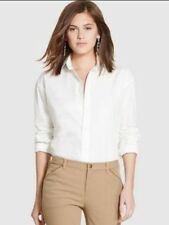 RL WOMENS OXFORD CLASSIC WHITE LONG SLEEVE SHIRT- Size small