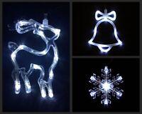 AA Battery Led Bell Snokflake Deer Christmas Tree Window Decorations Lights