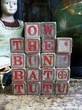 Set of 18 Early Antique Wood Alphabet ABC Blocks
