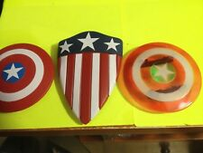 CUSTOM MEGO CAPTAIN AMERICA SHIELDS LOT (3) FOR 8 INCH ACTION FIGURE