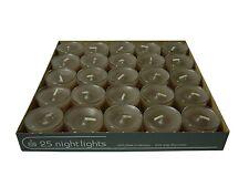 25 Teelichter Acryl Cup Grau Nightlights 8 Std Brennd transparente Hülle Wenzel