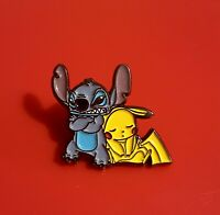 Lilo And Stitch Pin Pikachu Pin Retro Mash Up Metal Brooch Badge Lapel Pokemon